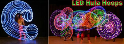 LED hoops Big Round Hoop