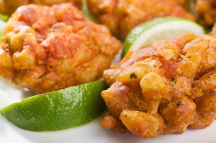 Onion Bhajis Close Up